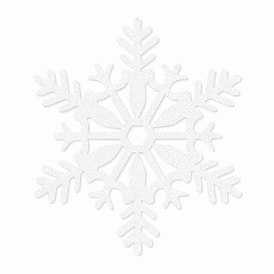Amscan Glitter Snowflake Decoration, White, Plastic, 11, 5/Pack (191363)