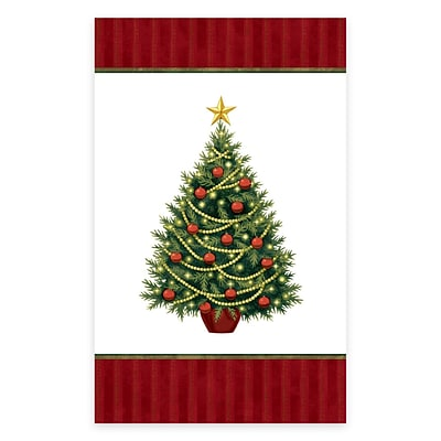 Amscan Twinkling Tree Plastic Tablecover, 54 x 84, 2/Pack, 3 Per Pack (679729)
