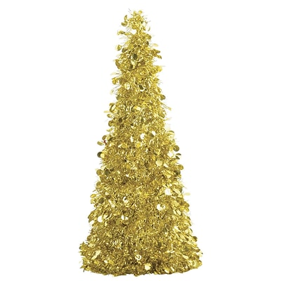 Amscan Tinsel Tree Centerpiece, Gold, 18, 2/Pack (240594)