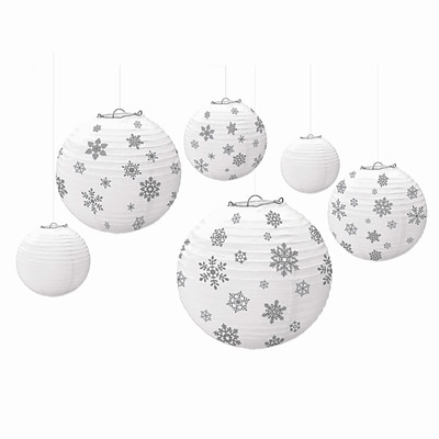Amscan Winter Icon Lanterns, Paper, 2/Pack, 6 Per Pack (242311)