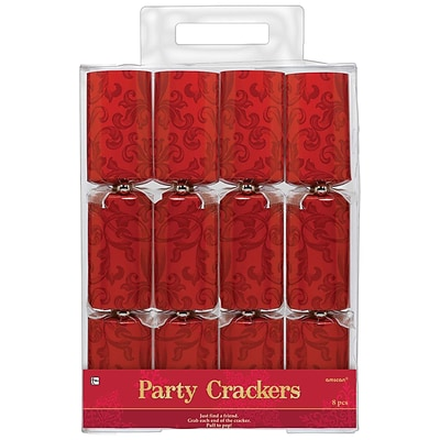 Amscan Holiday Crackers, 12.25 x 2, Red (396242)