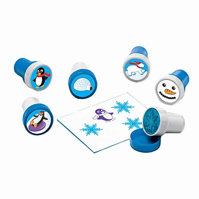Amscan Winter Fun Stampers, 8/Pack, 6 Per Pack (394896)