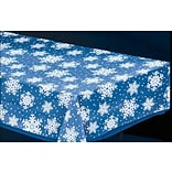 Amscan Snowflake Tablecover, Clear, 54 x 108, 5/Pack (571205)