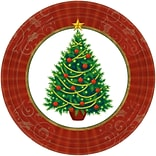 Amscan Twinkling Tree Paper Plate, 9 x 9, 2/Pack, 50 Per Pack (759729)