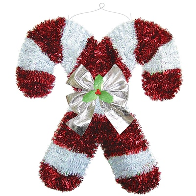 Amscan Deluxe Candy Cane Tinsel Decoration, 18 x 17 x 2, 2/Pack (240614)