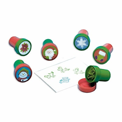 Amscan Christmas Stampers, 8/Pack, 6 Per Pack (390747)