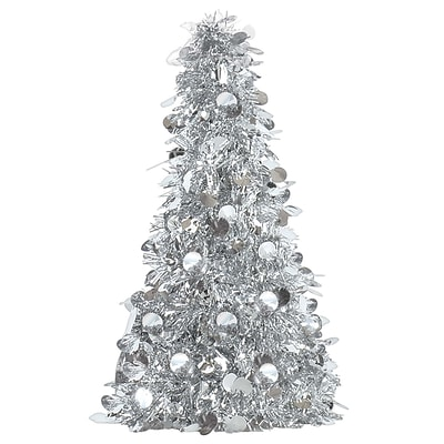 Amscan Tinsel Tree Centerpiece, Silver, 18, 6/Pack (240595)