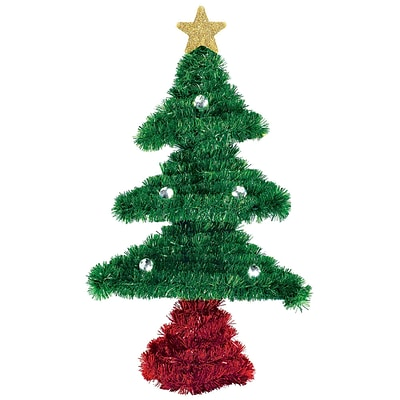 Amscan Tree Tinsel Decoration, 8 x 8 x 2, 5/Pack (241340)