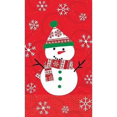 Amscan Very Merry Guest Towel 7.75 x 4.5, 5/Pack, 16 Per Pack (538507)