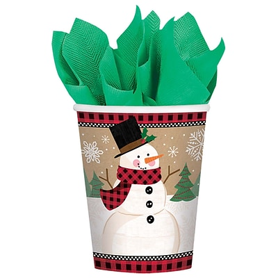 Amscan Winter Wonderland Paper Cup, 9oz, 5/Pack, 8 Per Pack (581679)