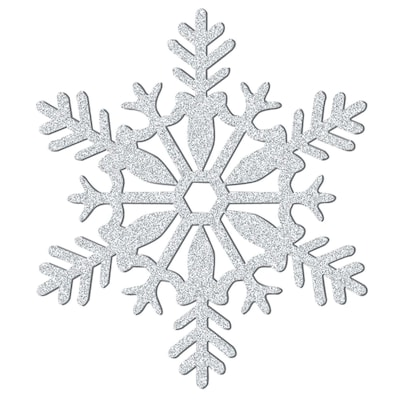 "Amscan Glitter Snowflake Decoration, Silver, Plastic, 11"", 5/Pack (191364)"