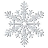 Amscan Glitter Snowflake Decoration, Silver,  Plastic, 11, 5/Pack (191364)