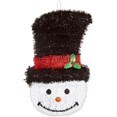 Amscan Deluxe Snowman Tinsel Decoration, 21 x 12 x 2, 2/Pack (240611)