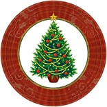 Amscan Twinkling Tree Paper Plate, 7 x 7, 2/Pack, 50 Per Pack (749729)