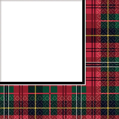 Amscan Holiday Charm Beverage Napkin, 5 x 5 (701678)