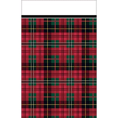 Amscan Holiday Charm Plastic Tablecover, 54 x 84, 2/Pack, 3 Per Pack (571678)