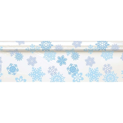 Amscan Snowflake Tableroll Clear, 40 x 100 (571209)