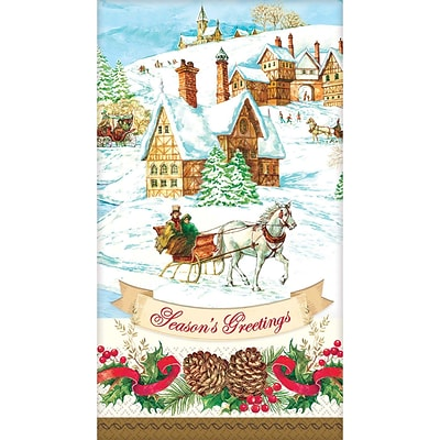 Amscan Holiday Magic Guest Towel 7.75 x 4.5, 3/Pack, 36 Per Pack (831685)