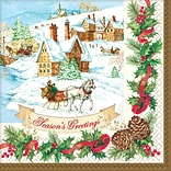 Amscan Holiday Magic Beverage Napkin, 5 x 5, 3/Pack, 36 Per Pack (701685)