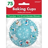 Amscan Frosty Friends Cupcake Cases, 2, 5/Pack, 75 Per Pack (140193)