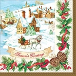 Amscan Holiday Magic Dinner Napkin, 7.75 x 7.75, 3/Pack, 36 Per Pack (821685)
