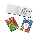 Amscan Christmas Activity Pads, 10/Pack, 8 Per Pack (390819)