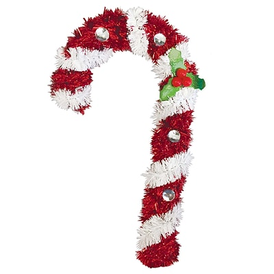 Amscan Candy Cane Tinsel Decoration, 6 x 3.5 x 1, 5/Pack (241327)