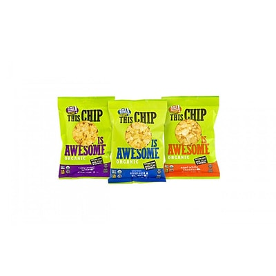 This Chip Is Awesome Organic Popcorn Chips Variety Pack, 1 oz, 24 Count
