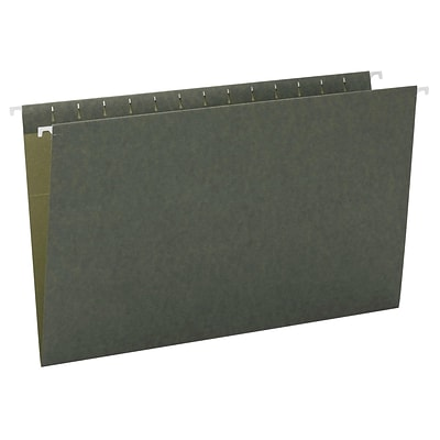 Smead Hanging File Folders, Legal Size, Standard Green, 25/Box (64110)