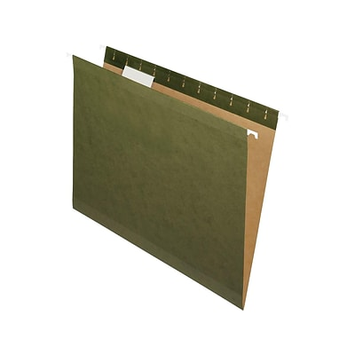 Pendaflex Hanging File Folder, Expansion, 5-Tab, Letter Size, Green, 25/Box (PFX 4152)