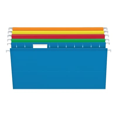 Pendaflex Box Bottom Hanging File Folders, Letter Size, Assorted Colors, 25/Box (PFX 04152x2 ASST)