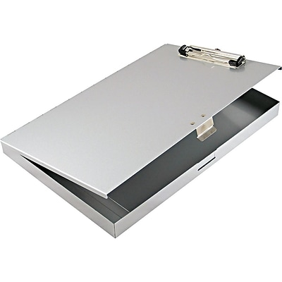Saunders Tuff Writer Aluminum Storage Clipboard, Silver (45300)