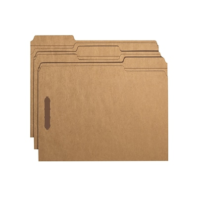 Smead Card Stock Classification Folders, Reinforced 1/3-Cut Tab, Letter Size, Kraft, 50/Box (14837)