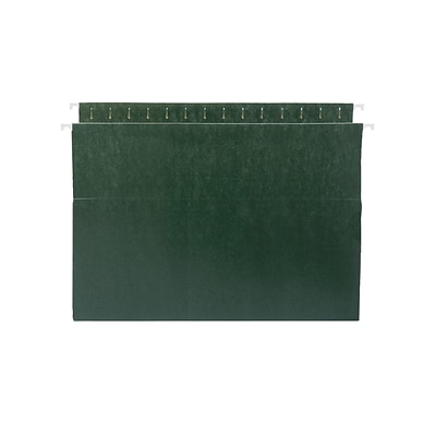Smead Box Bottom Hanging File Folders, 3 Expansion, Legal Size, Standard Green, 25/Box (64379)