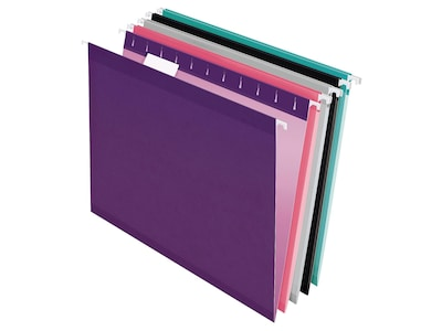 Pendaflex Recycled Hanging File Folders, Letter Size, Assorted Colors, 25/Box (PFX 4152 1/5 ASST2)