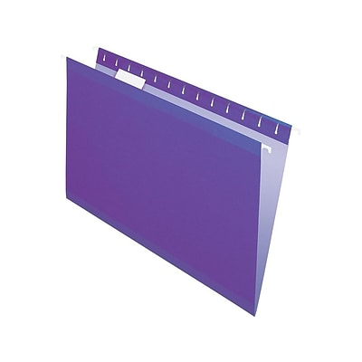 Pendaflex Recycled Hanging File Folders, Legal Size, Violet, 25/Box (PFX 4153 1/5 VIO)