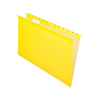 Pendaflex Recycled Hanging File Folders, Legal Size, Yellow, 25/Box (PFX 4153 1/5 YEL)