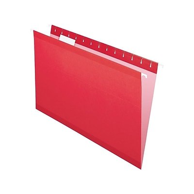 Pendaflex Recycled Hanging File Folders, Legal Size, Red, 25/Box (PFX 4153 1/5 RED)