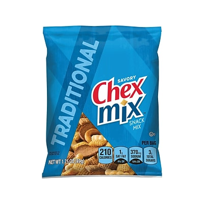 Chex Mix Traditional Snack Mix, Savory, 1.75 Oz., 60/Carton (1240)
