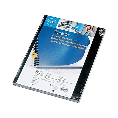 Swingline GBC Solids Standard Presentation Covers Presentation Covers, 8.5W x 11H (US letter), Black, 50 Pack (2514493)