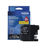 Brother LC 107BK XXL Black Ink Cartridge, Super High Yield (LC107BKS)