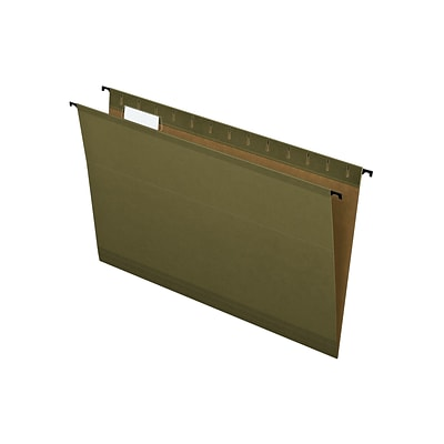 Pendaflex SureHook Hanging File Folders, Legal Size, Standard Green, 20/Box (PFX 6153 1/5)