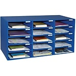 Pacon Classroom Keepers 16.38H x 31.5W Corrugated Mailbox, Blue, Each (001308)