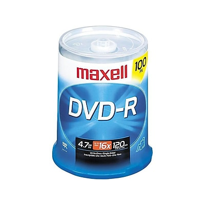 Maxell 638014 16x DVD-R, 100/Pack