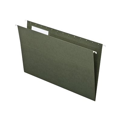 Pendaflex Recycled Hanging File Folders, 1/3-Cut Tab, Legal Size, Standard Green, 25/Box (PFX 81621)