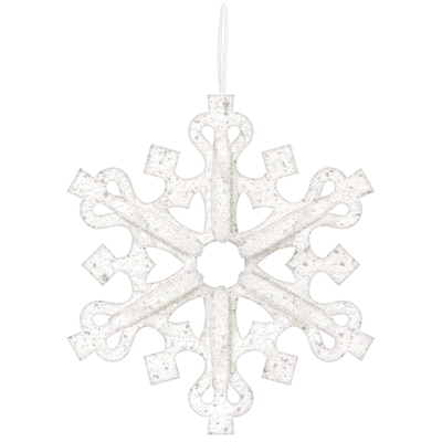 "Amscan 3D Glitter Snowflake Decoration, 14"" x 14"" x 3"", Foam, 3/Pack (241616)"