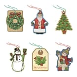 Amscan Christmas Glitter Gift Tags, 4/Pack, 36 Per Pack (262065)