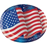 Creative Converting Patriotic Party Oval Plates, 24 Count (DTC335434OVAL)