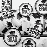 Creative Converting Black and White 2019 Graduation Party Supplies Kit (DTCBKWHT2E)