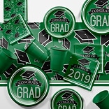 Creative Converting Green 2019 Graduation Party Supplies Kit (DTCGREEN2E)